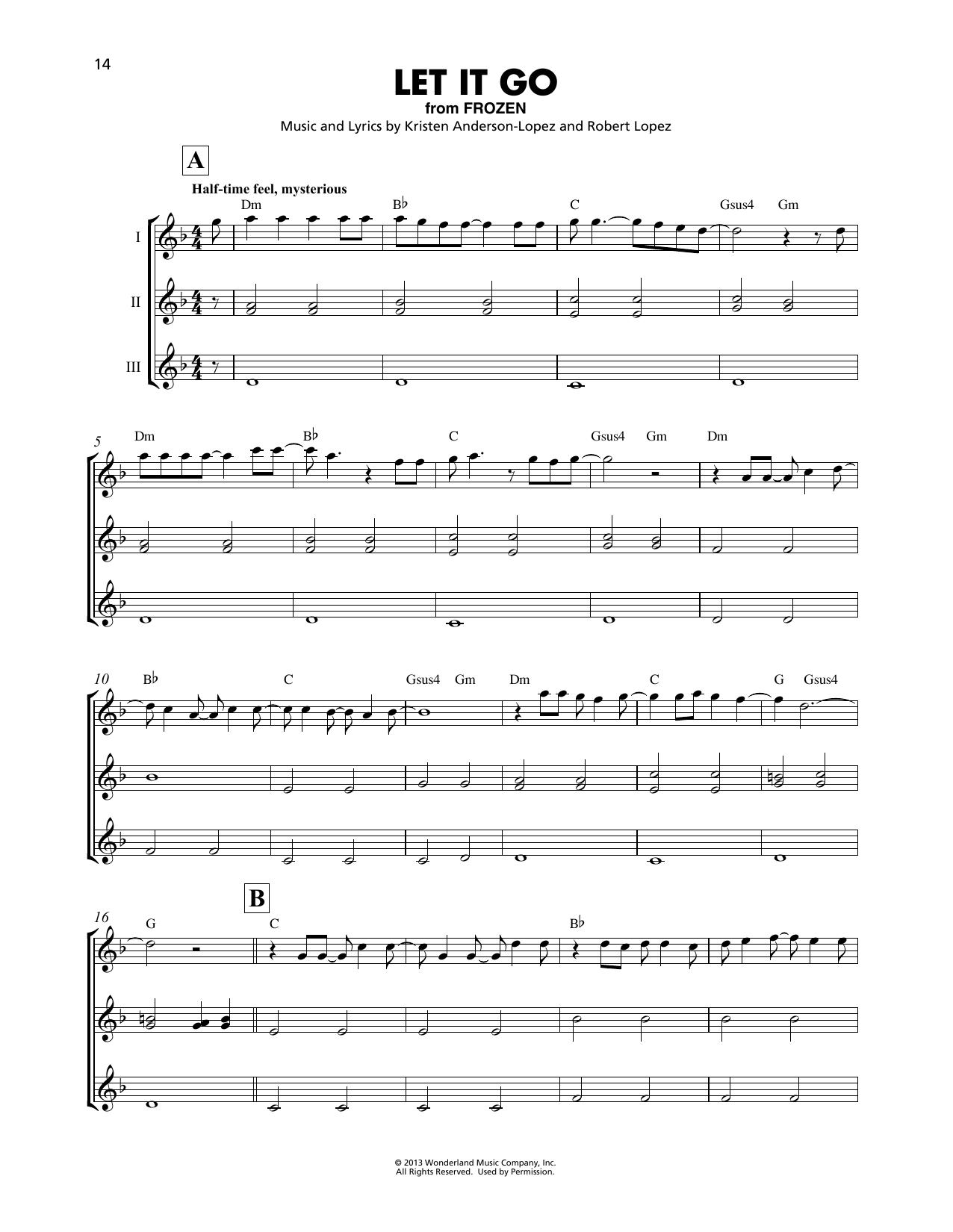 Let It Go (from Frozen) (Ukulele Ensemble)
