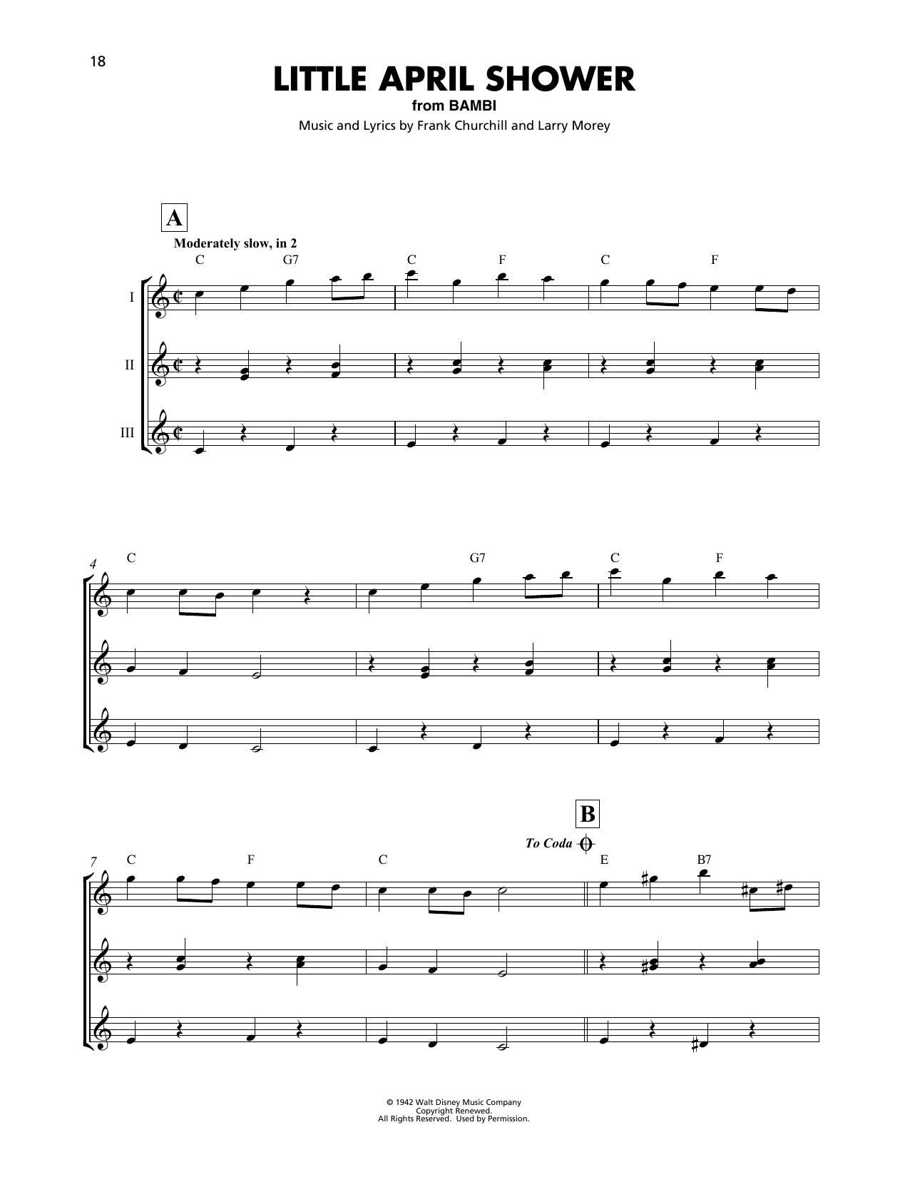 Little April Shower (from Disney's Bambi) (Ukulele Ensemble)