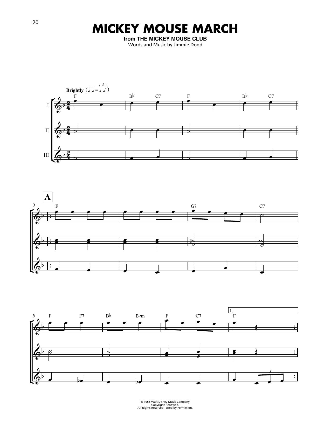 Mickey Mouse March (Ukulele Ensemble)