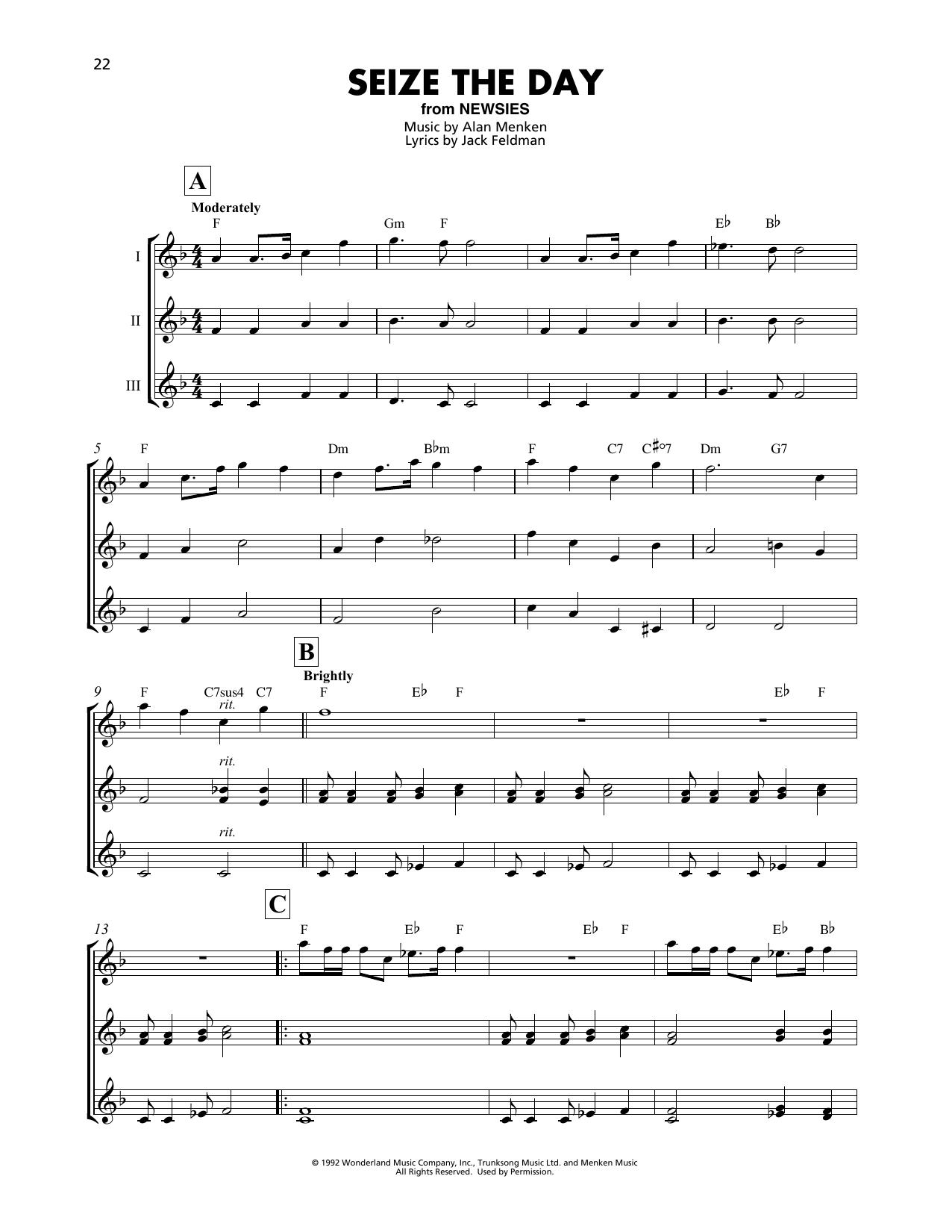 Seize The Day (from Newsies) (Ukulele Ensemble)