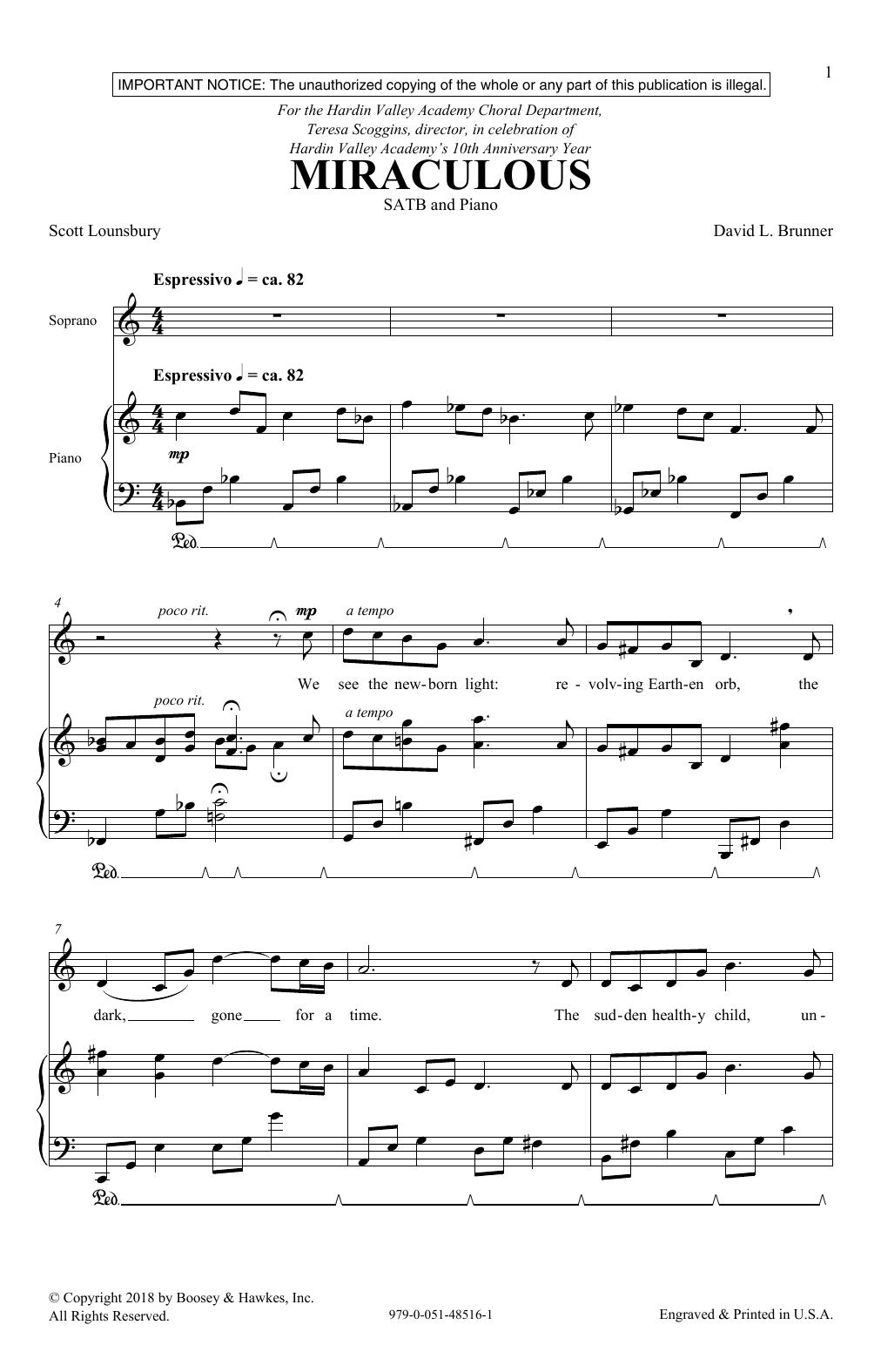 Miraculous (SATB Choir)