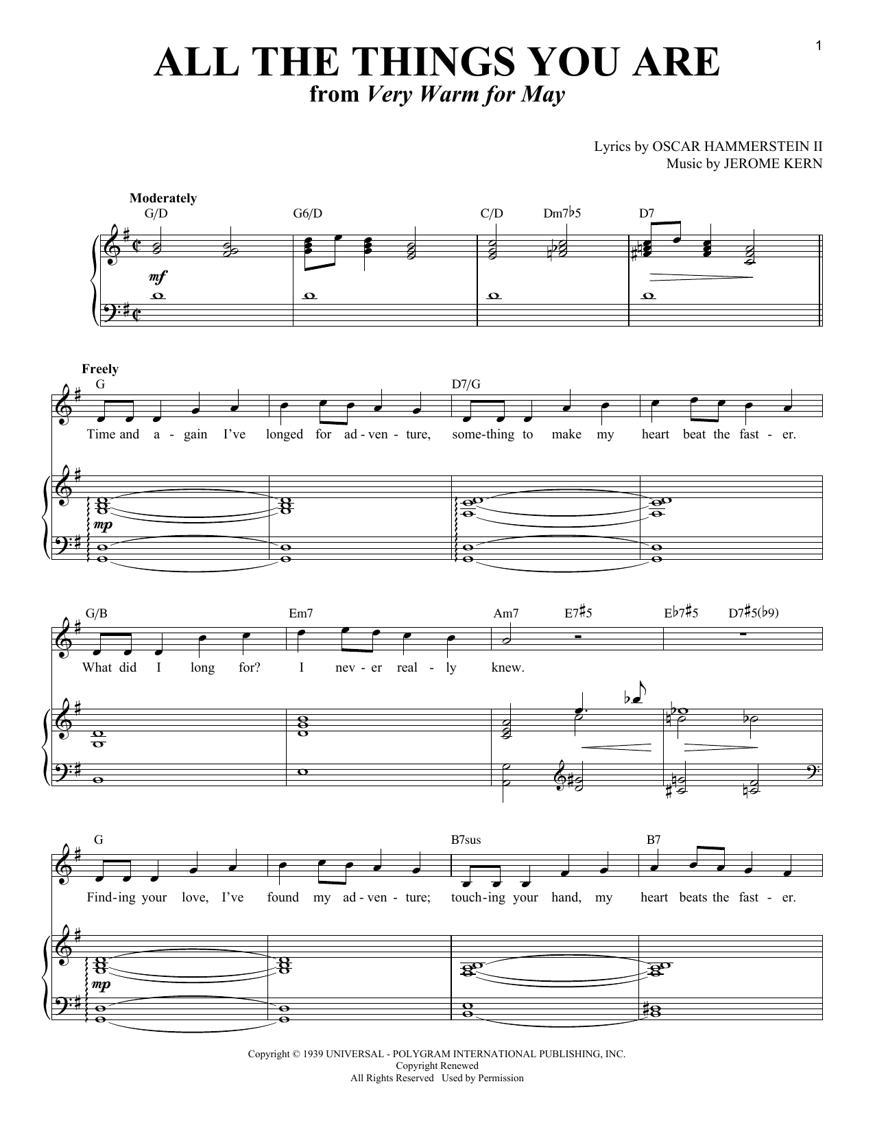 All The Things You Are (Piano & Vocal)