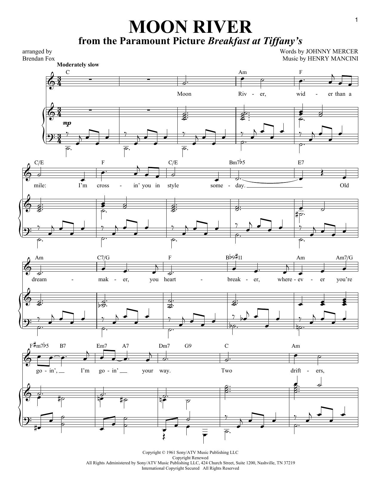Moon River (Piano & Vocal)