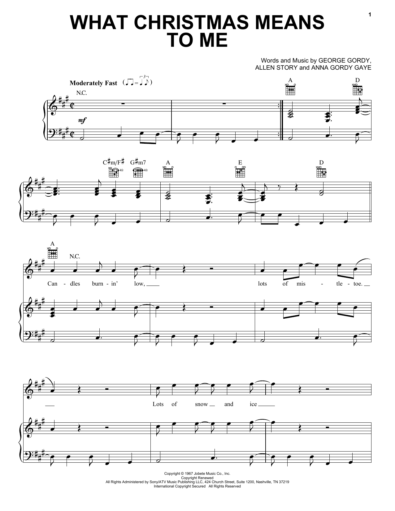 What Christmas Means To Me (Piano, Vocal & Guitar (Right-Hand Melody))