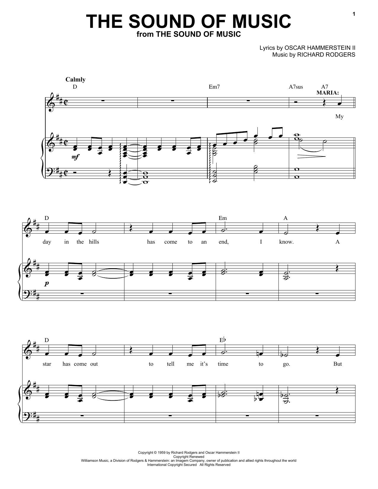 The Sound Of Music (from The Sound of Music) (Piano & Vocal)