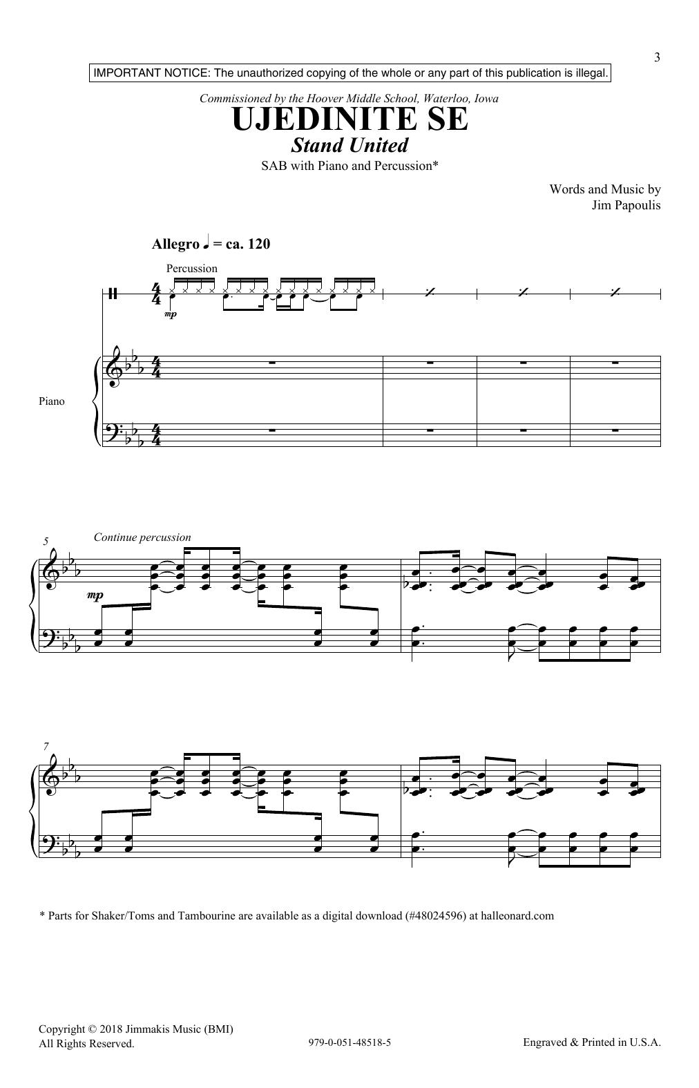 Ujedinite Se (Stand United) (SAB Choir)