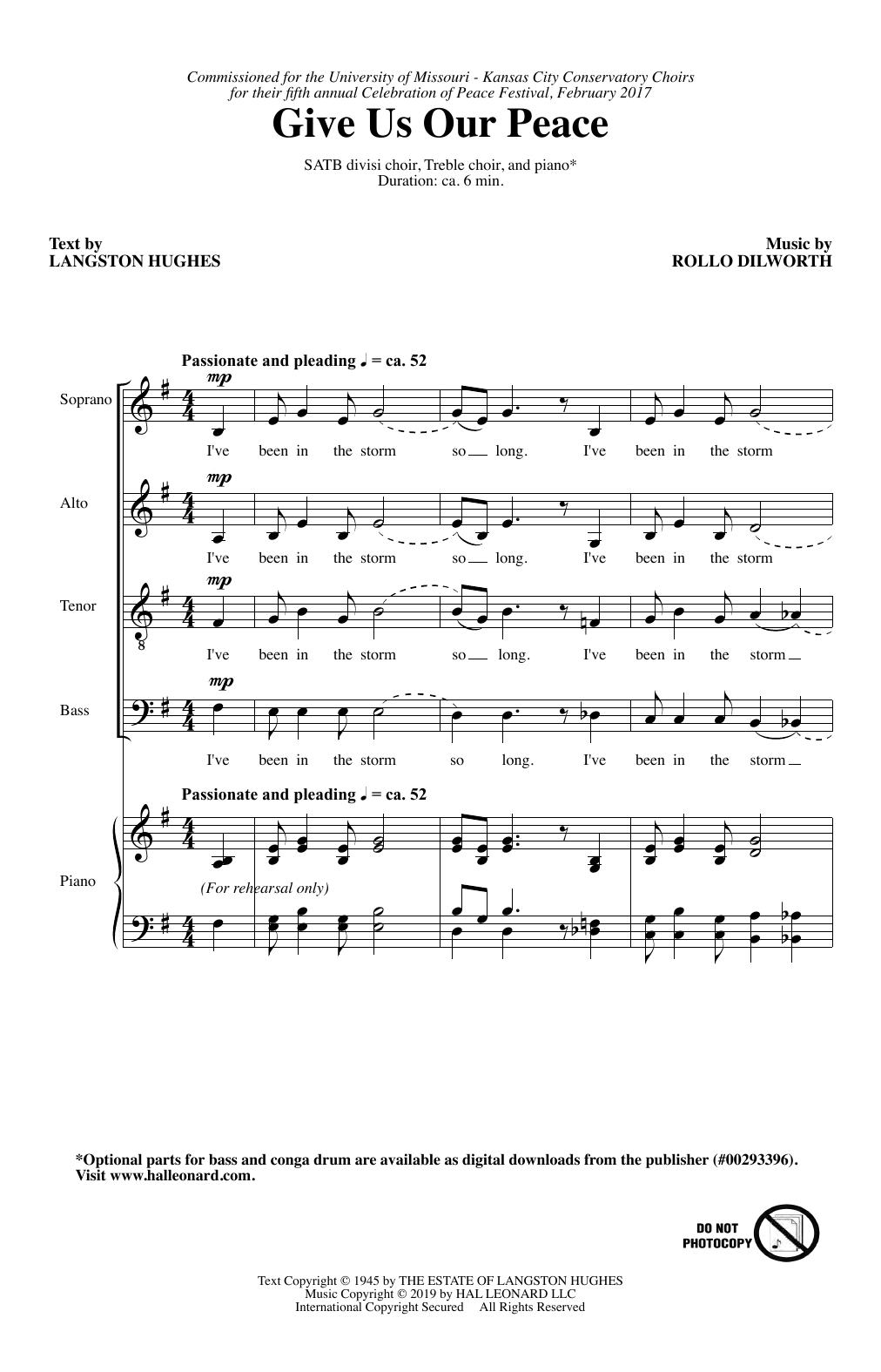 Give Us Our Peace (SATB Choir)