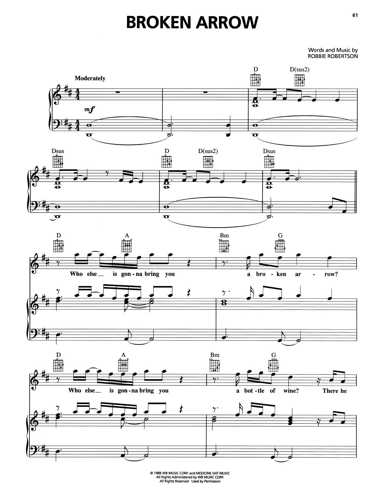 Broken Arrow (Piano, Vocal & Guitar (Right-Hand Melody))