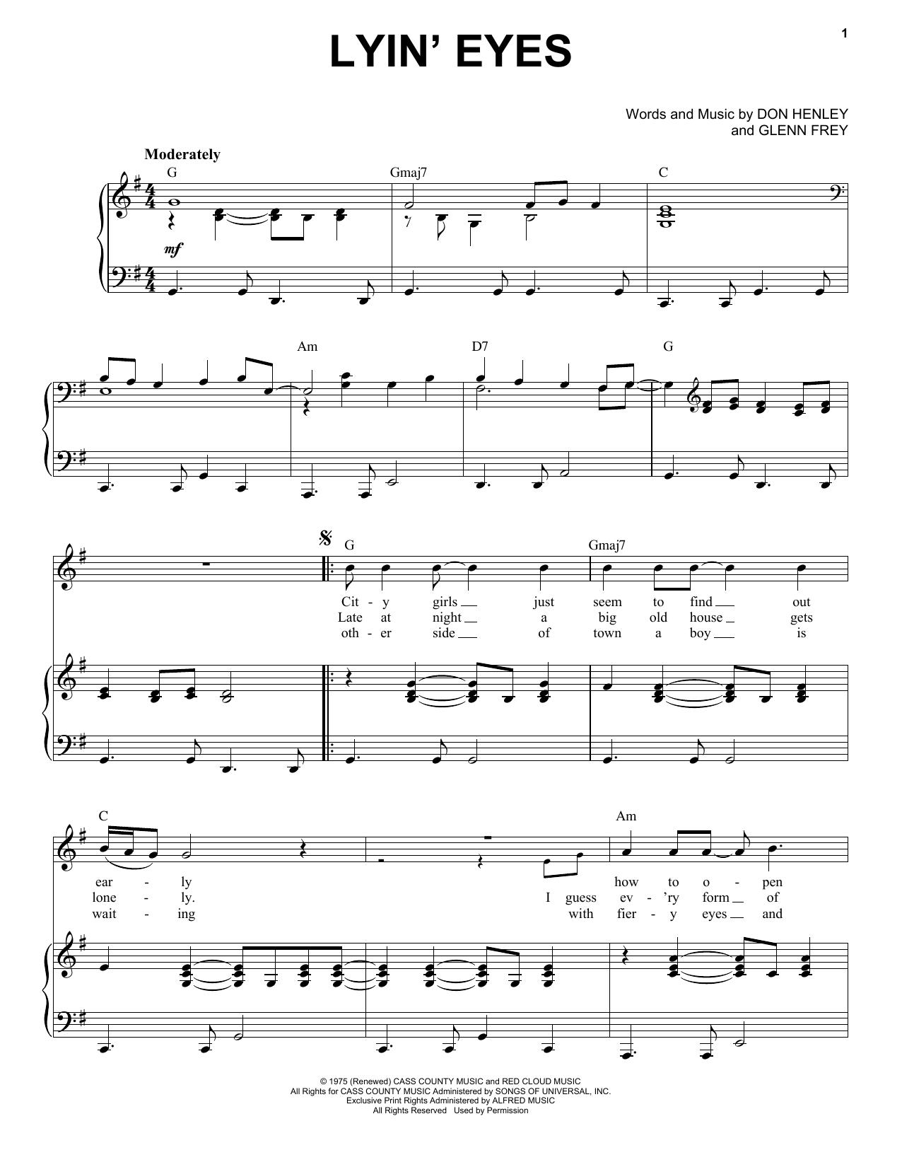 Lyin' Eyes (Piano & Vocal)