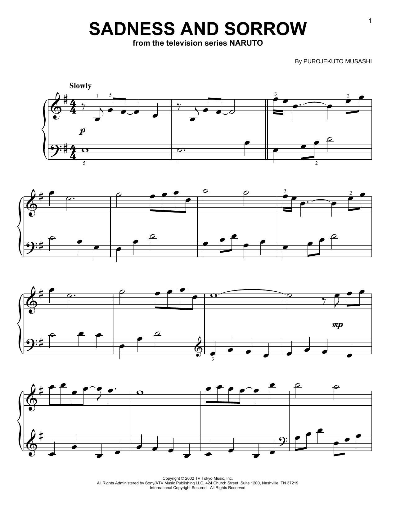 Sadness And Sorrow (from Naruto) (Easy Piano)