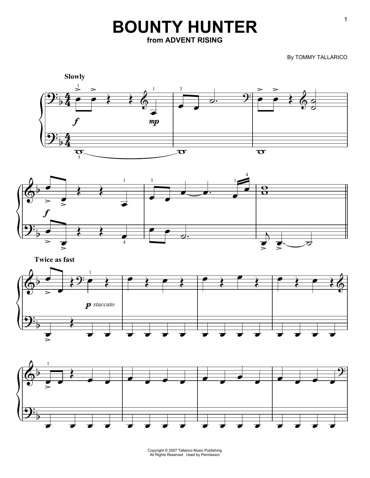 Bounty Hunter (Easy Piano)