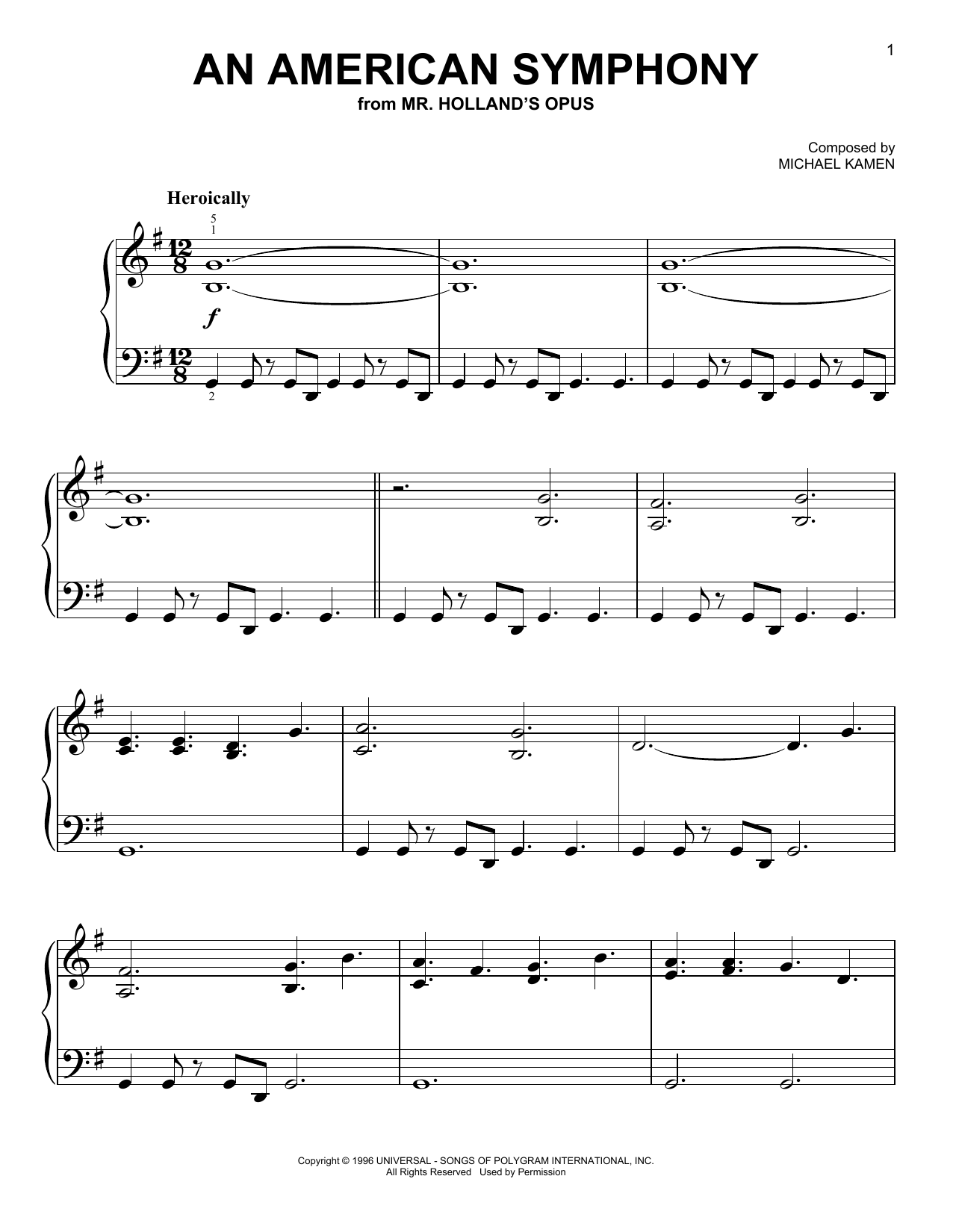 An American Symphony (Easy Piano)