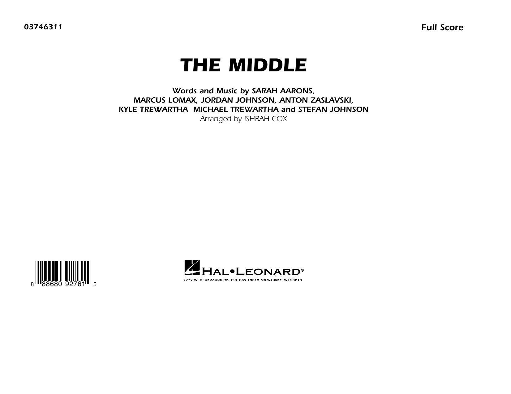 The Middle (arr. Ishbah Cox) - Conductor Score (Full Score) (Marching Band)