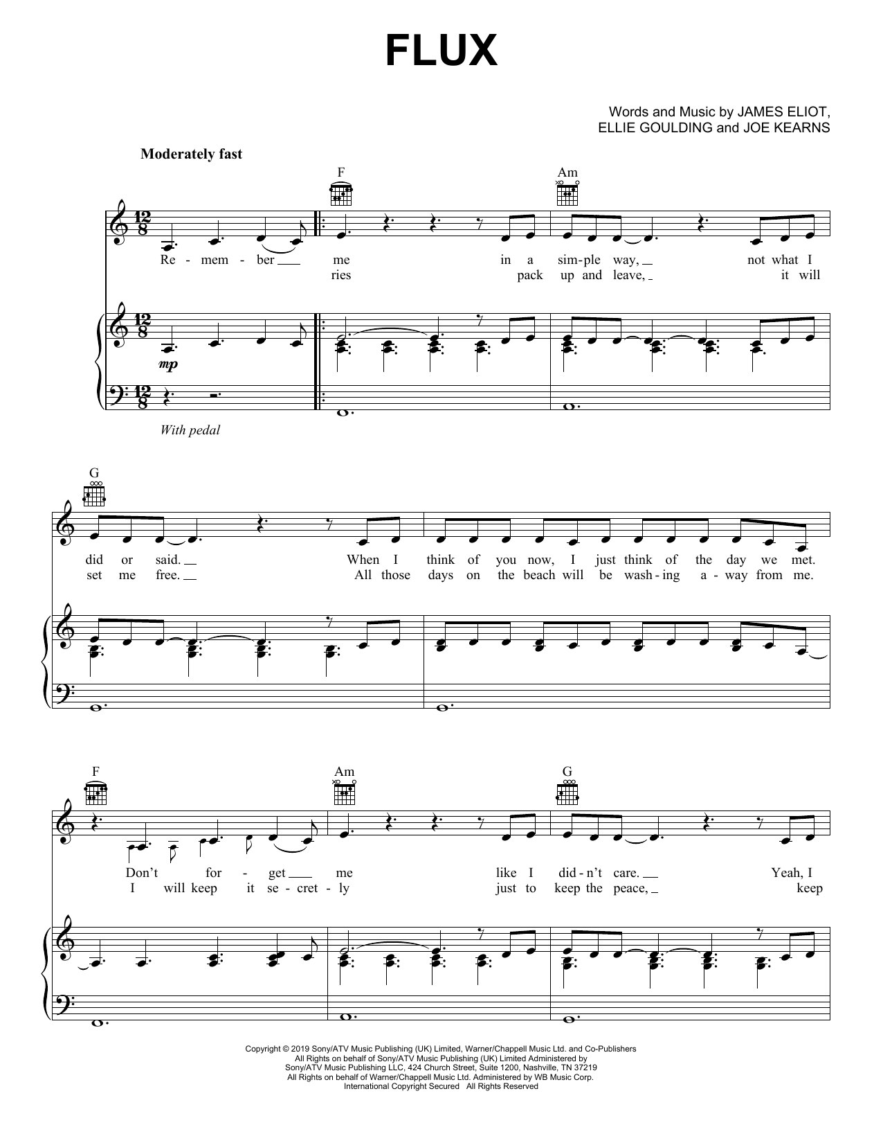 Flux (Piano, Vocal & Guitar (Right-Hand Melody))