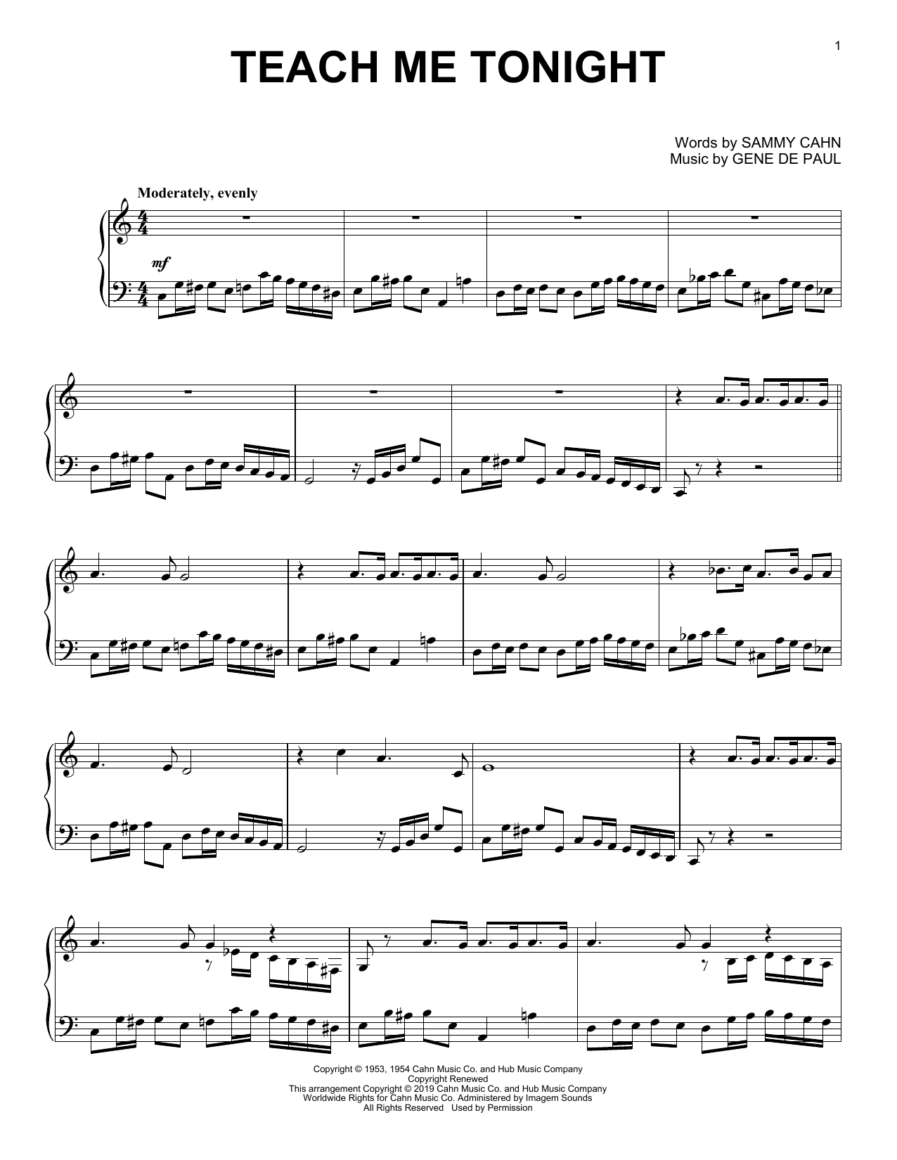 Teach Me Tonight (Piano Solo)