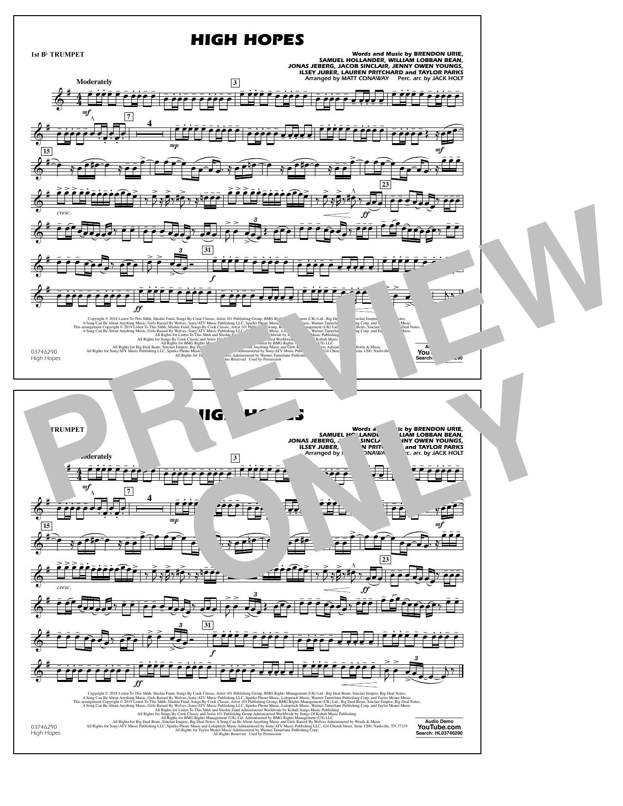High Hopes (arr. Matt Conaway) - 1st Bb Trumpet (Marching Band)