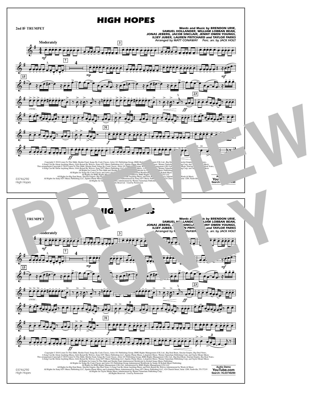 High Hopes (arr. Matt Conaway) - 2nd Bb Trumpet (Marching Band)