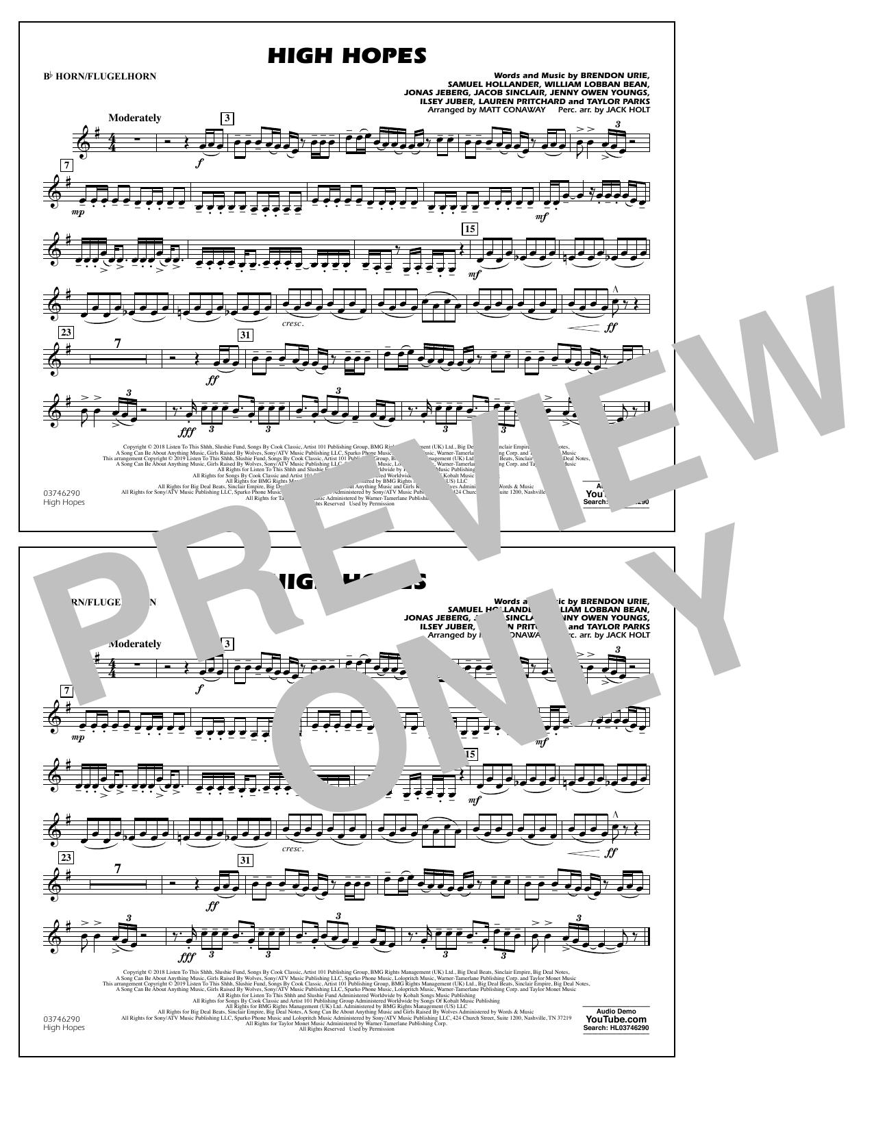High Hopes (arr. Matt Conaway) - Bb Horn/Flugelhorn (Marching Band)
