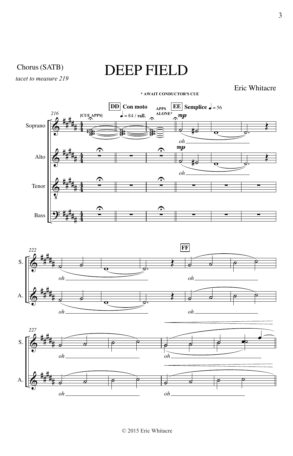 Deep Field (SATB Choir)