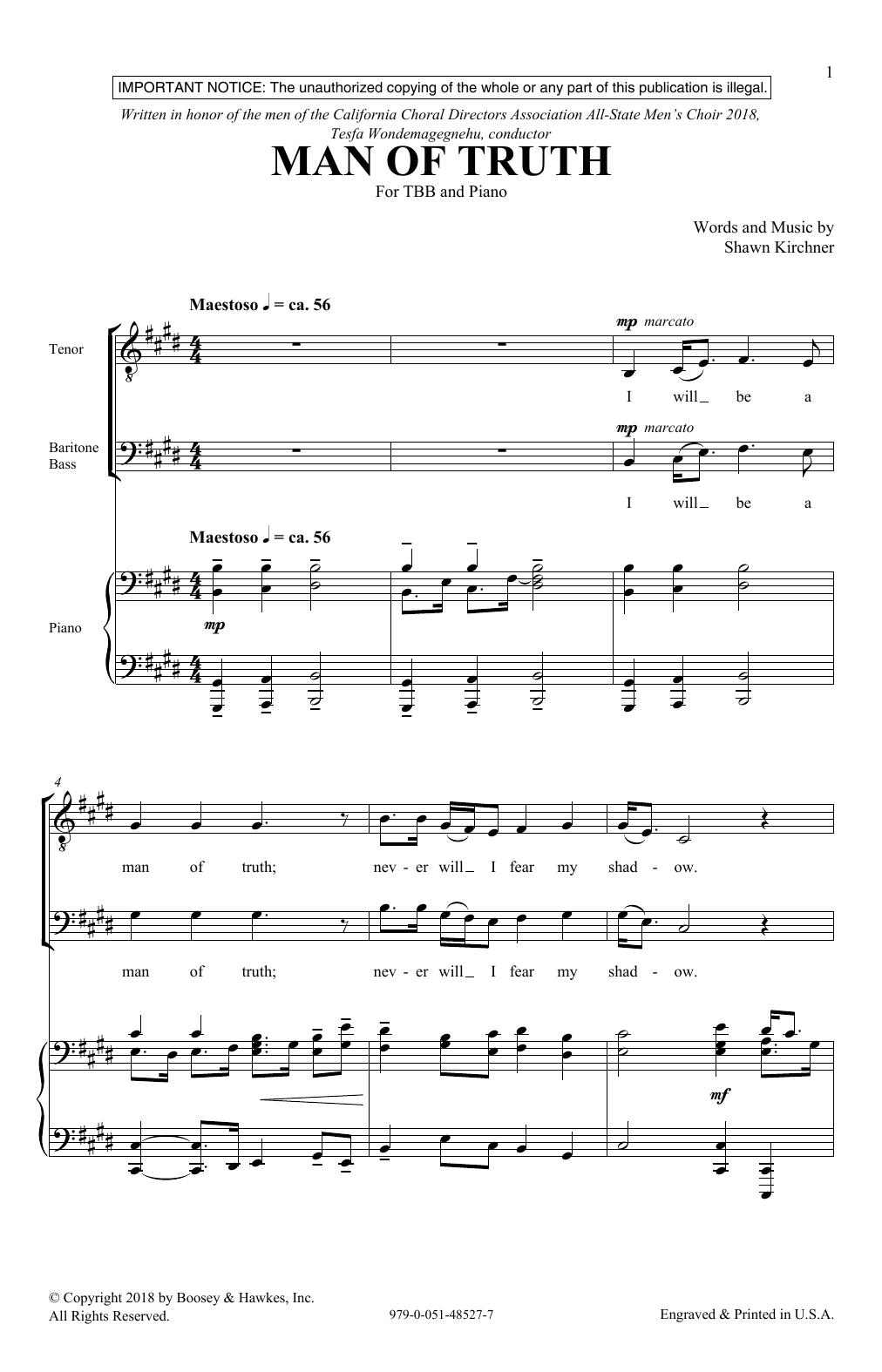 Man Of Truth (TBB Choir)