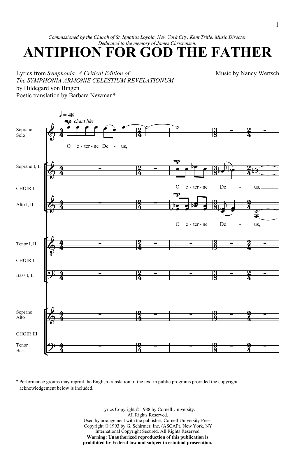 Antiphon For God The Father (SATB Choir)