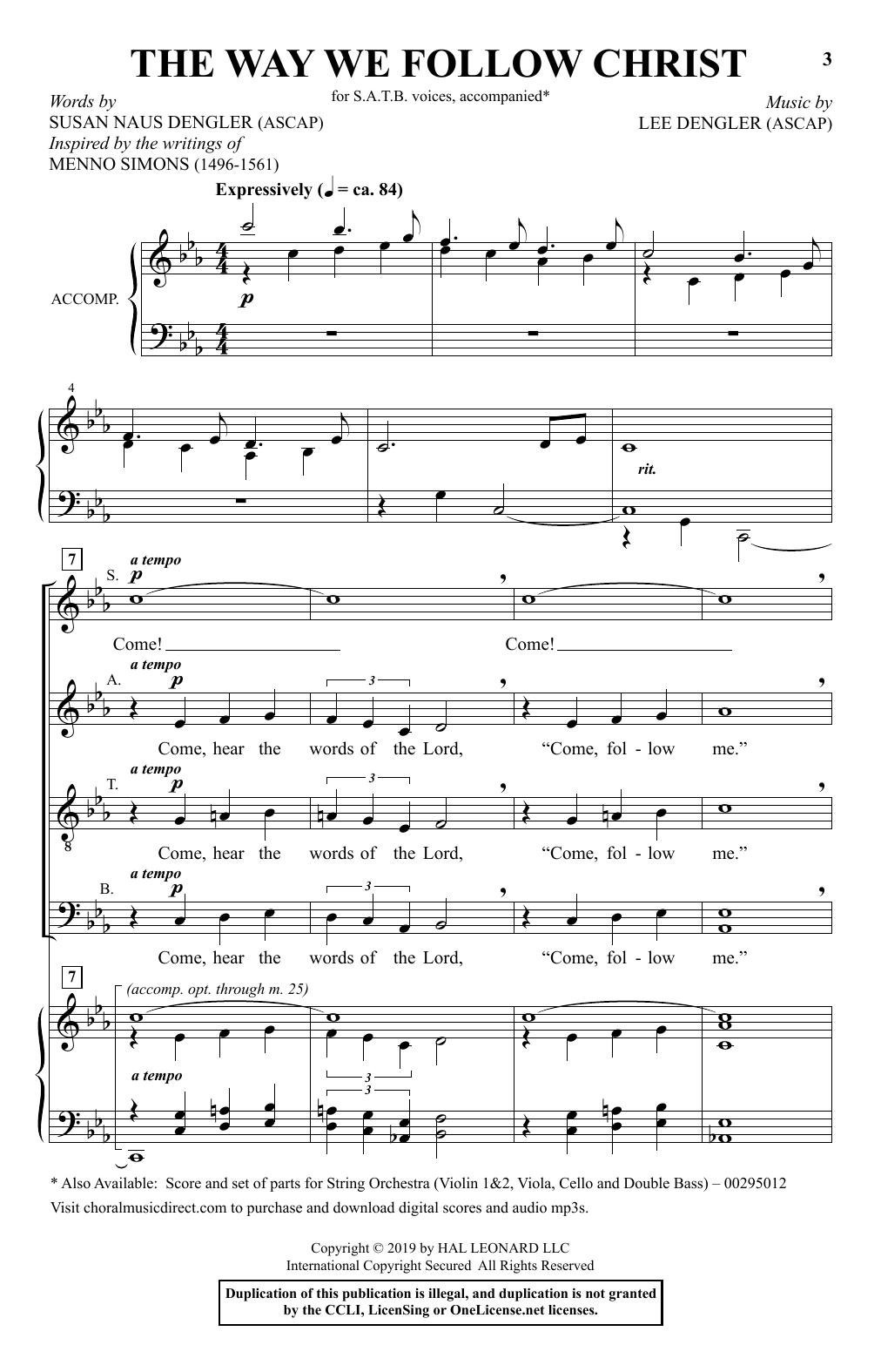 The Way We Follow Christ (SATB Choir)