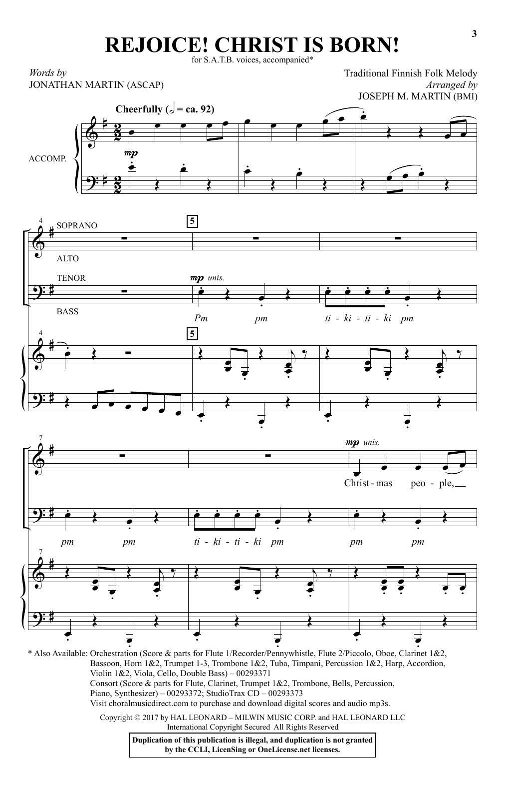 Rejoice! Christ Is Born! (SATB Choir)