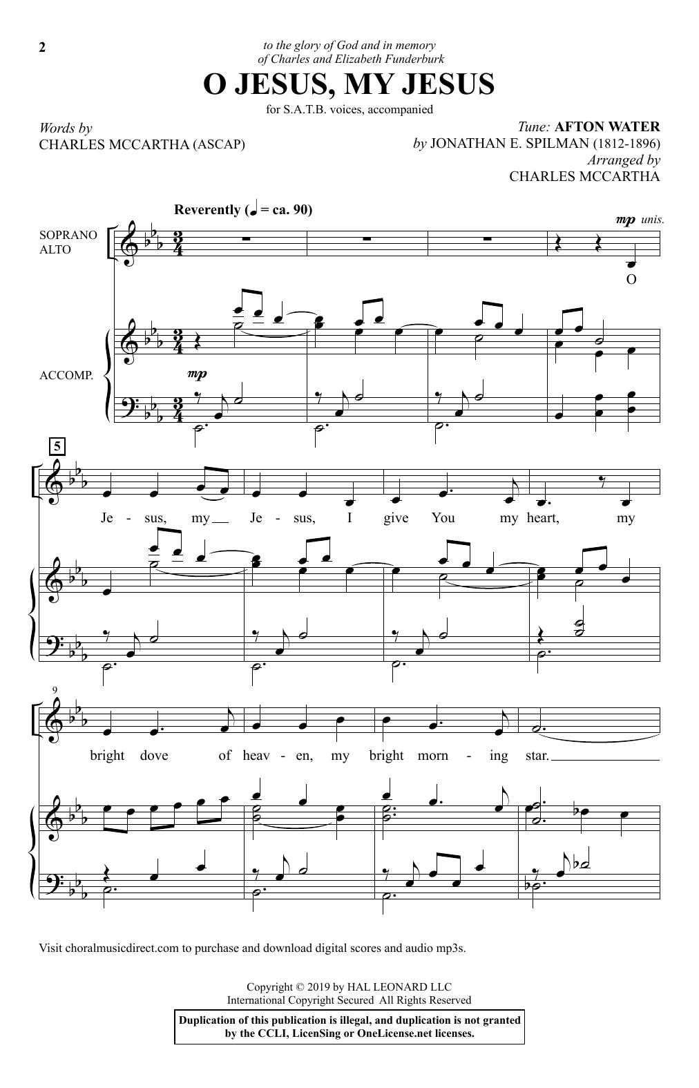 O Jesus, My Jesus (SATB Choir)