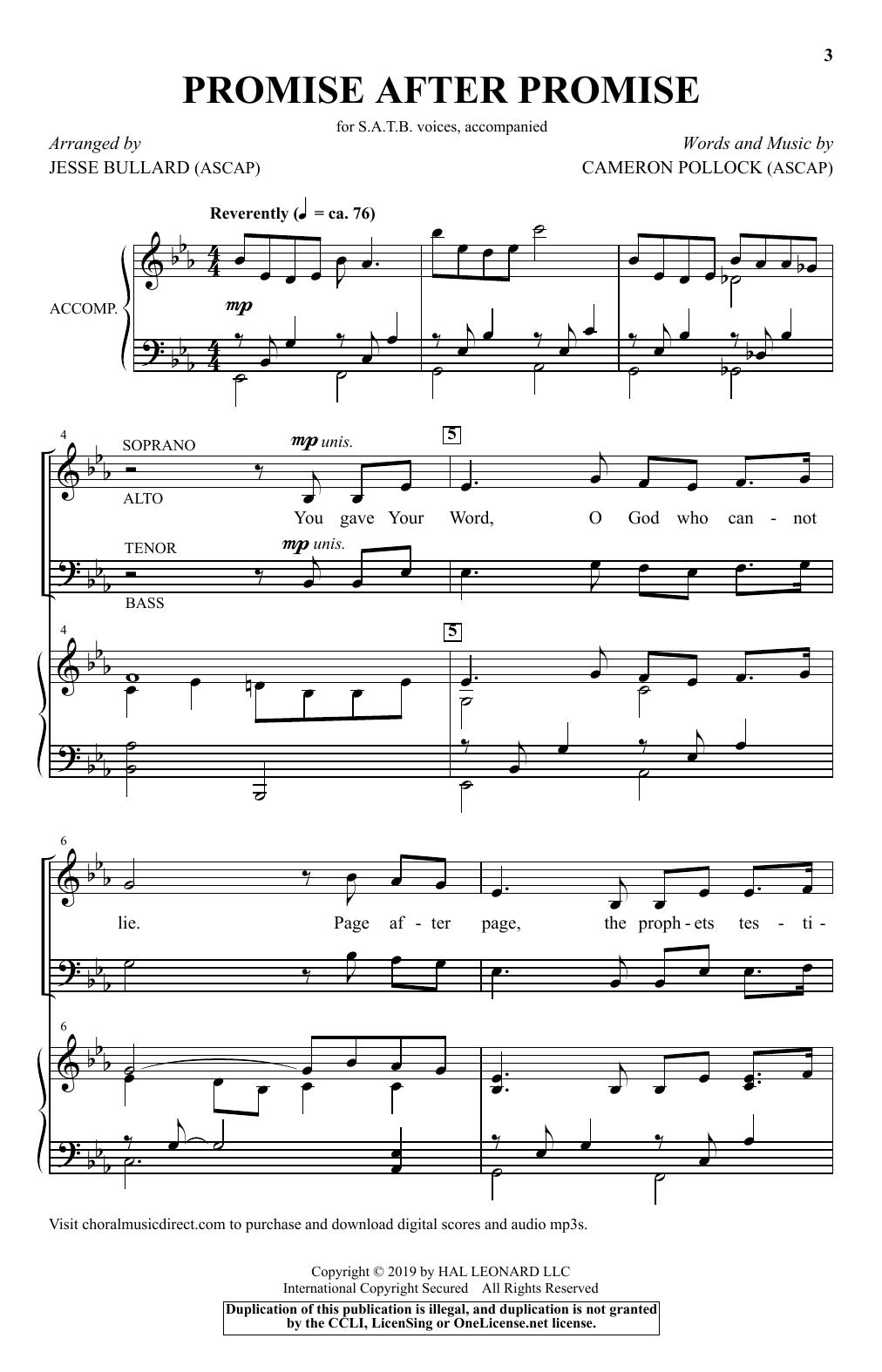 Promise After Promise (arr. Jesse Bullard) (SATB Choir)