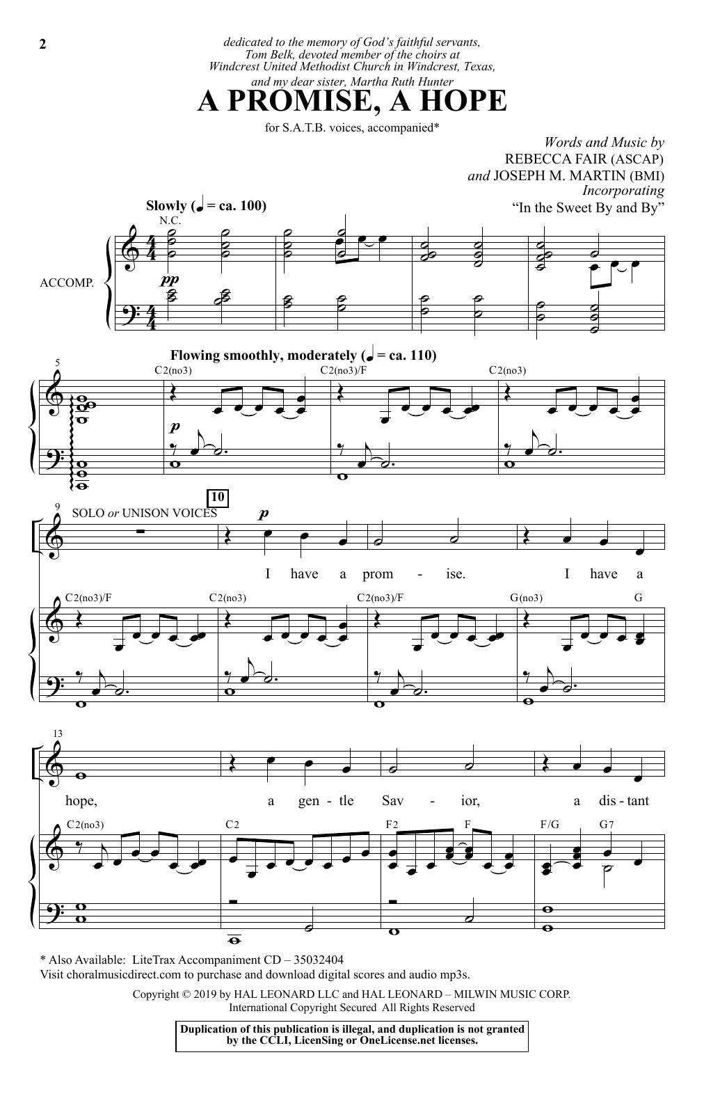 A Promise, A Hope (SATB Choir)