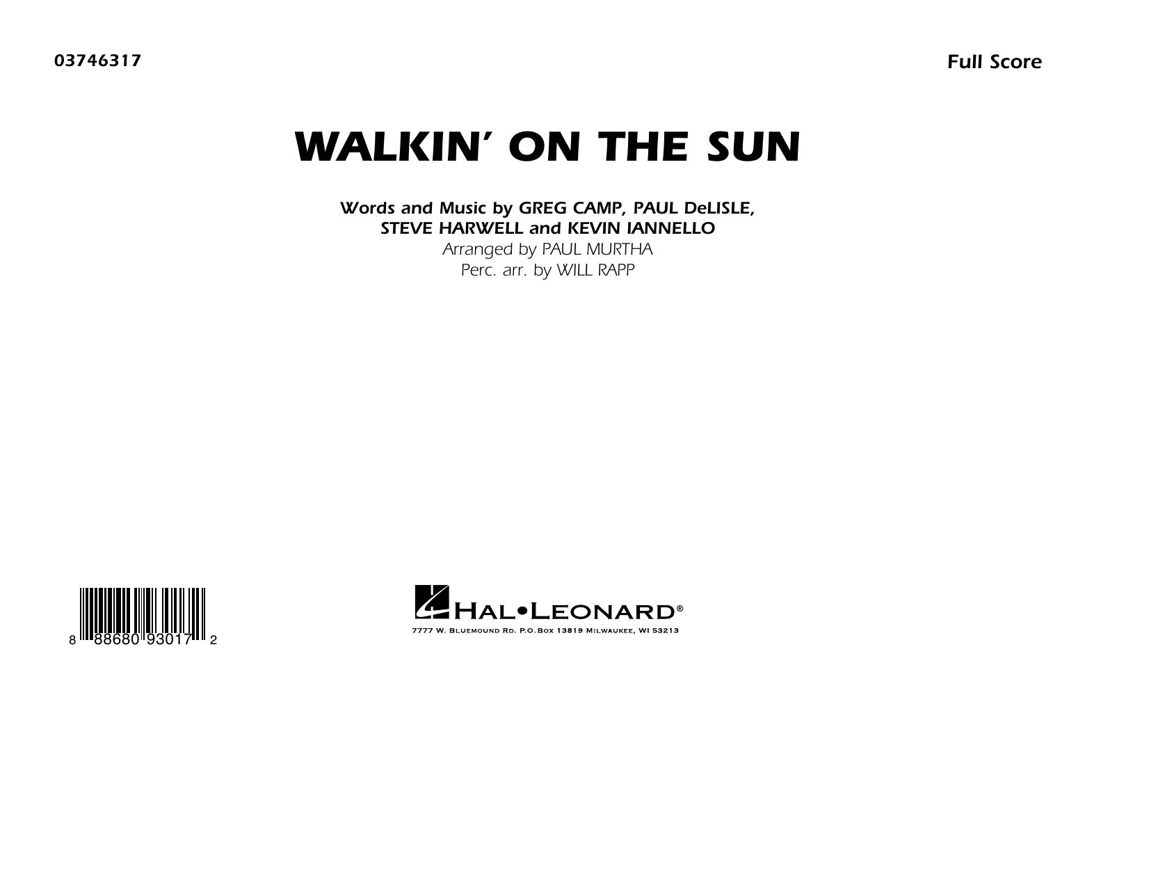 Walkin' on the Sun (arr. Paul Murtha) - Conductor Score (Full Score) (Marching Band)