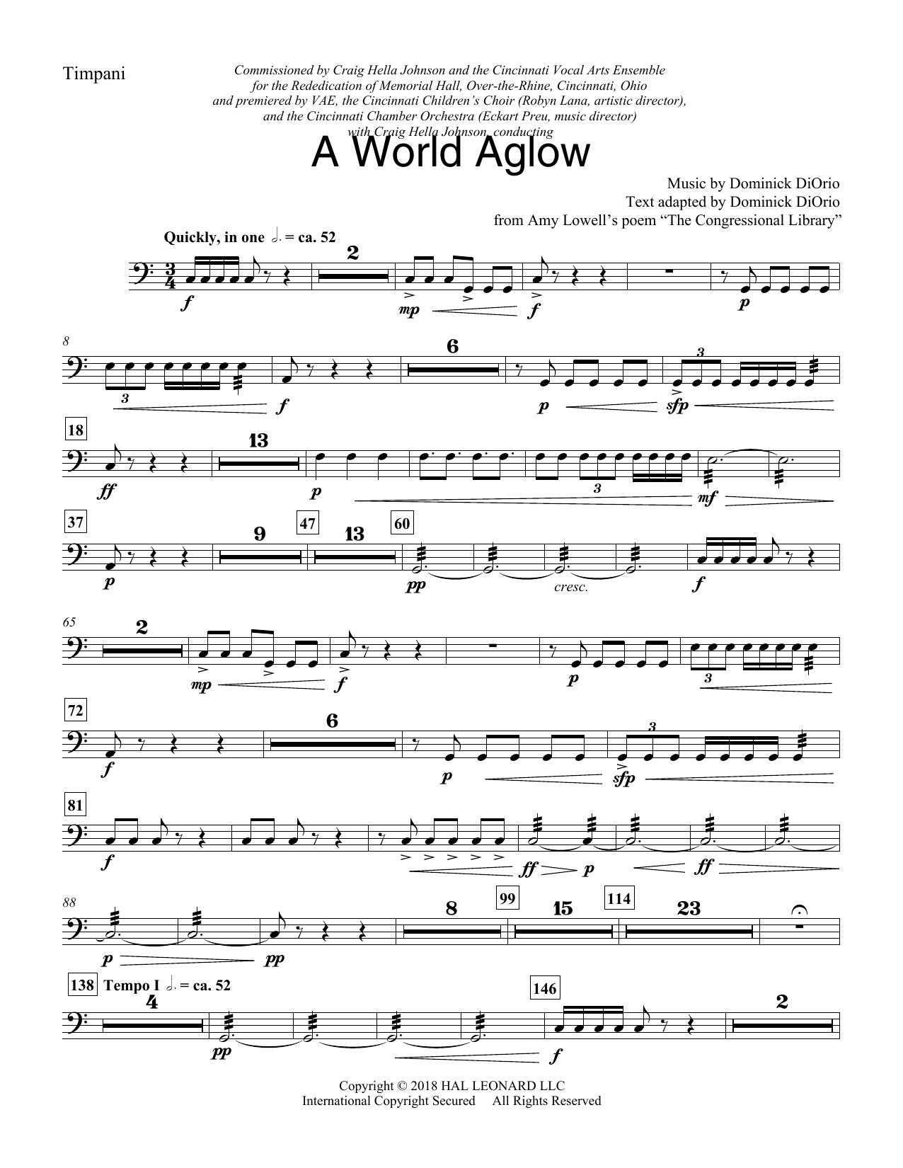 A World Aglow - Timpani (Choir Instrumental Pak)