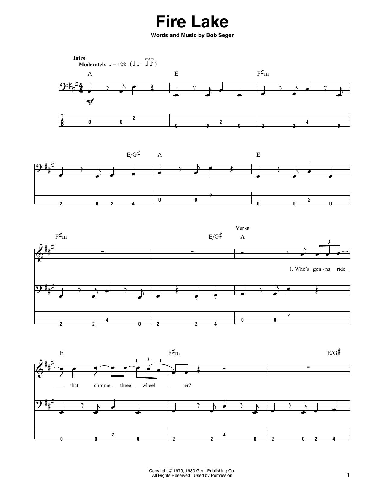 Fire Lake (Bass Guitar Tab)