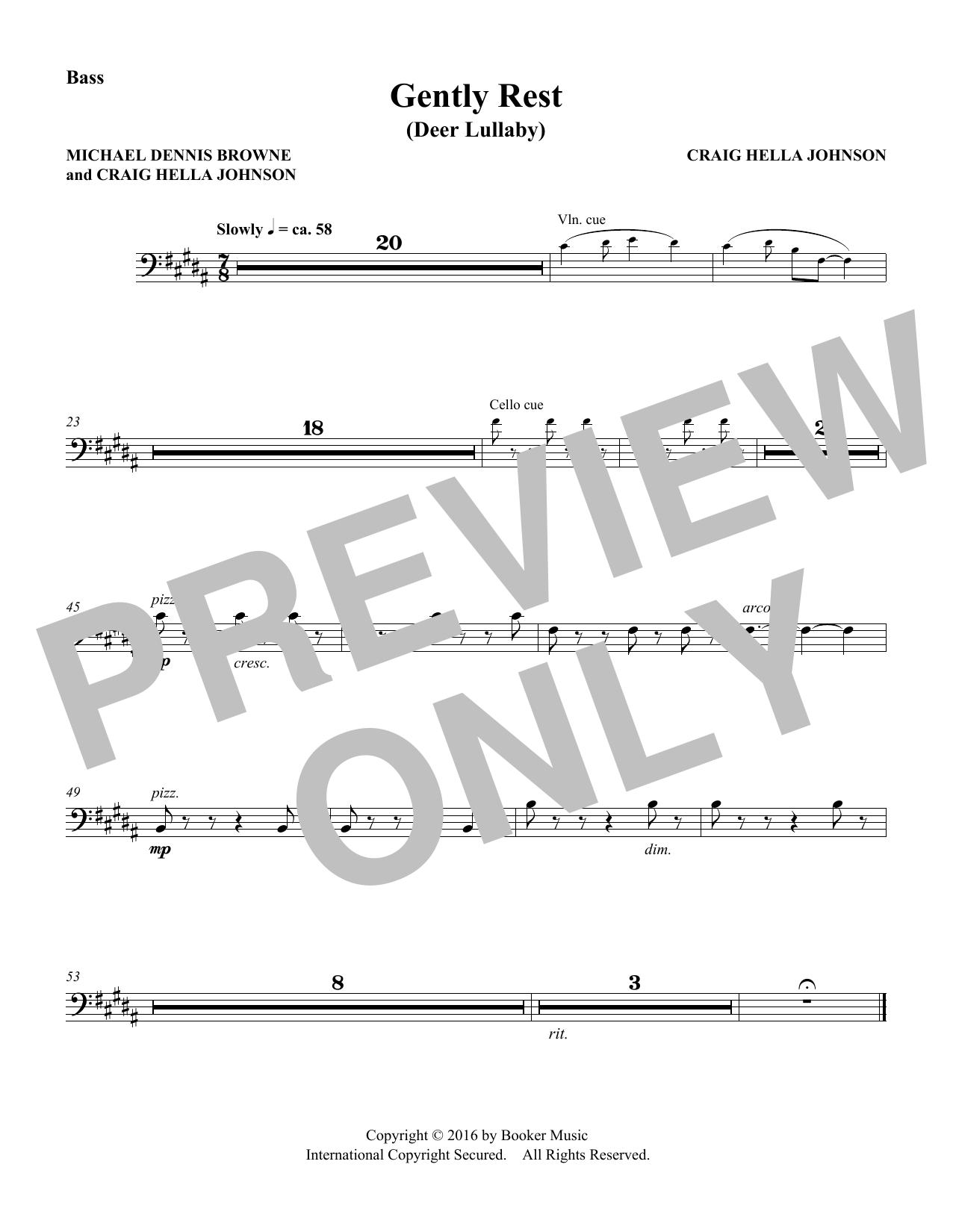 Gently Rest (Deer Lullaby) (from Considering Matthew Shepard) - Double Bass (Choir Instrumental Pak)