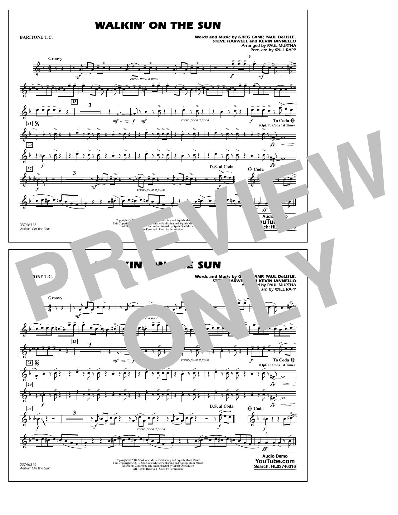 Walkin' on the Sun (arr. Paul Murtha) - Baritone T.C. (Marching Band)
