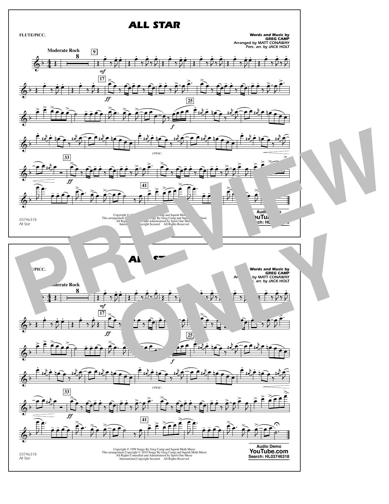 All Star (arr. Matt Conaway) - Flute/Piccolo (Marching Band)