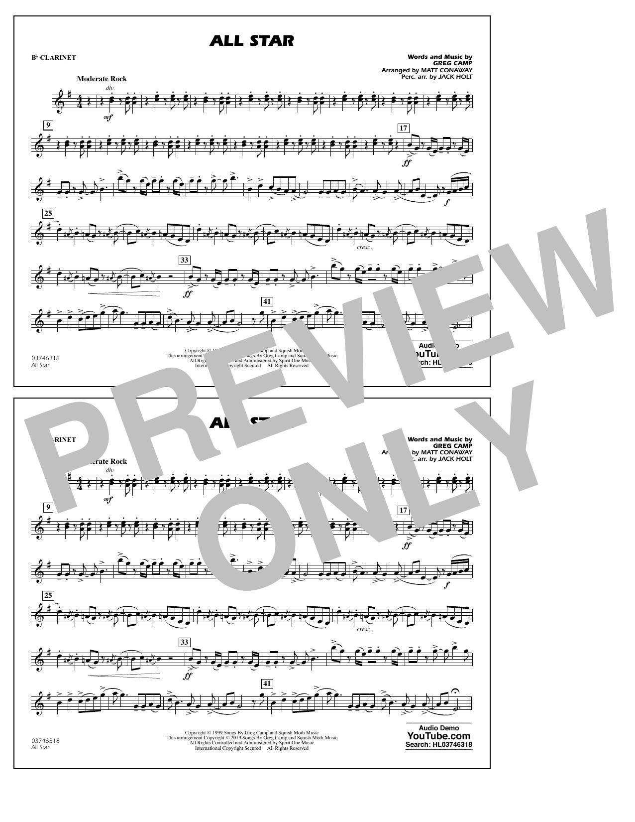 All Star (arr. Matt Conaway) - Bb Clarinet (Marching Band)