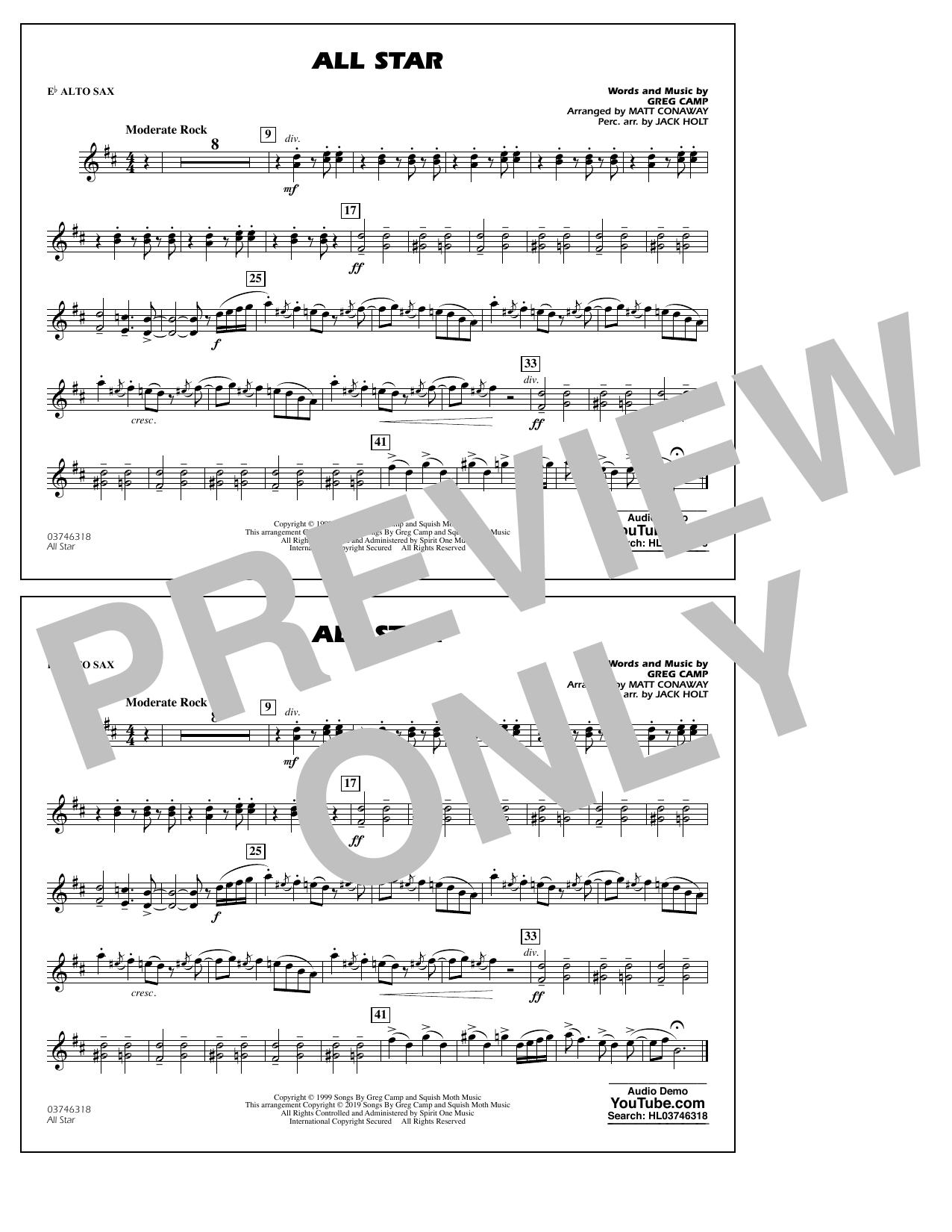 All Star (arr. Matt Conaway) - Eb Alto Sax (Marching Band)