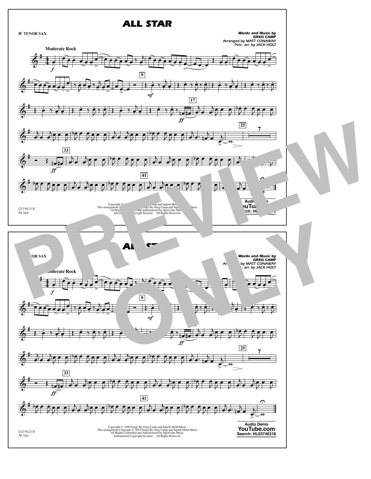 All Star (arr. Matt Conaway) - Bb Tenor Sax (Marching Band)