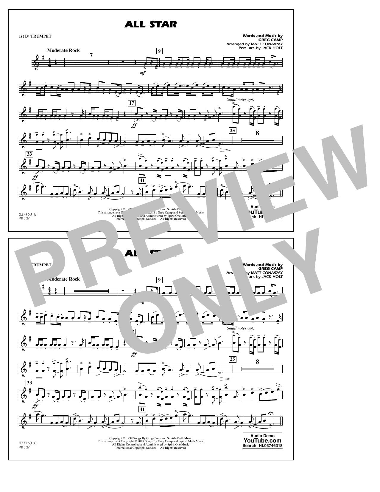 All Star (arr. Matt Conaway) - 1st Bb Trumpet (Marching Band)
