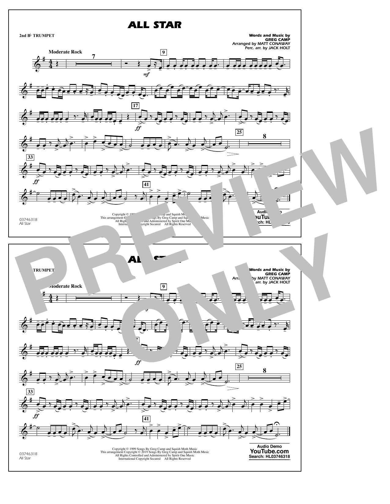 All Star (arr. Matt Conaway) - 2nd Bb Trumpet (Marching Band)