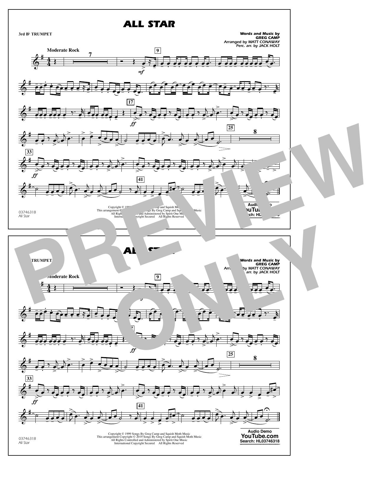 All Star (arr. Matt Conaway) - 3rd Bb Trumpet (Marching Band)