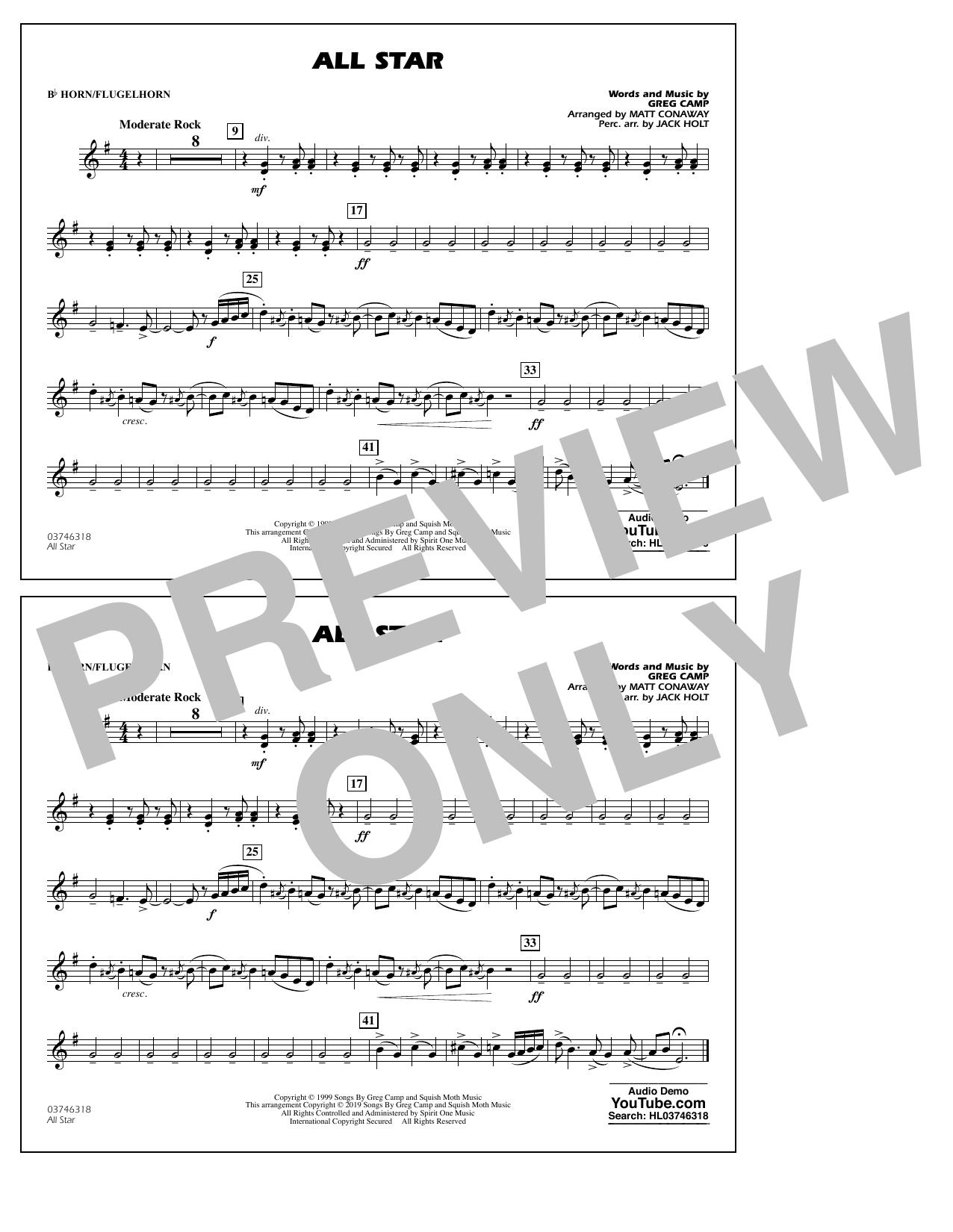 All Star (arr. Matt Conaway) - Bb Horn/Flugelhorn (Marching Band)