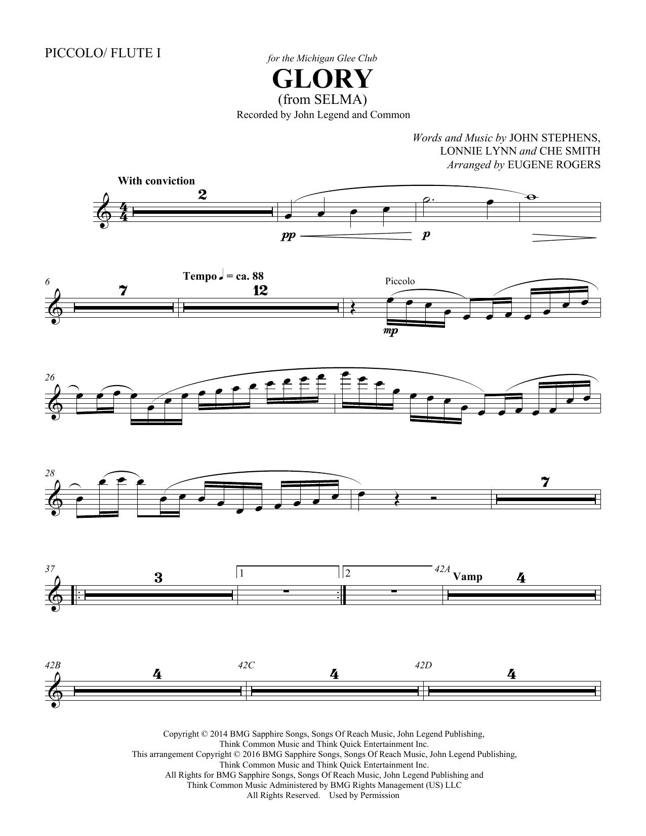 Glory (from Selma) (arr. Eugene Rogers) - Flute/Piccolo (Choir Instrumental Pak)