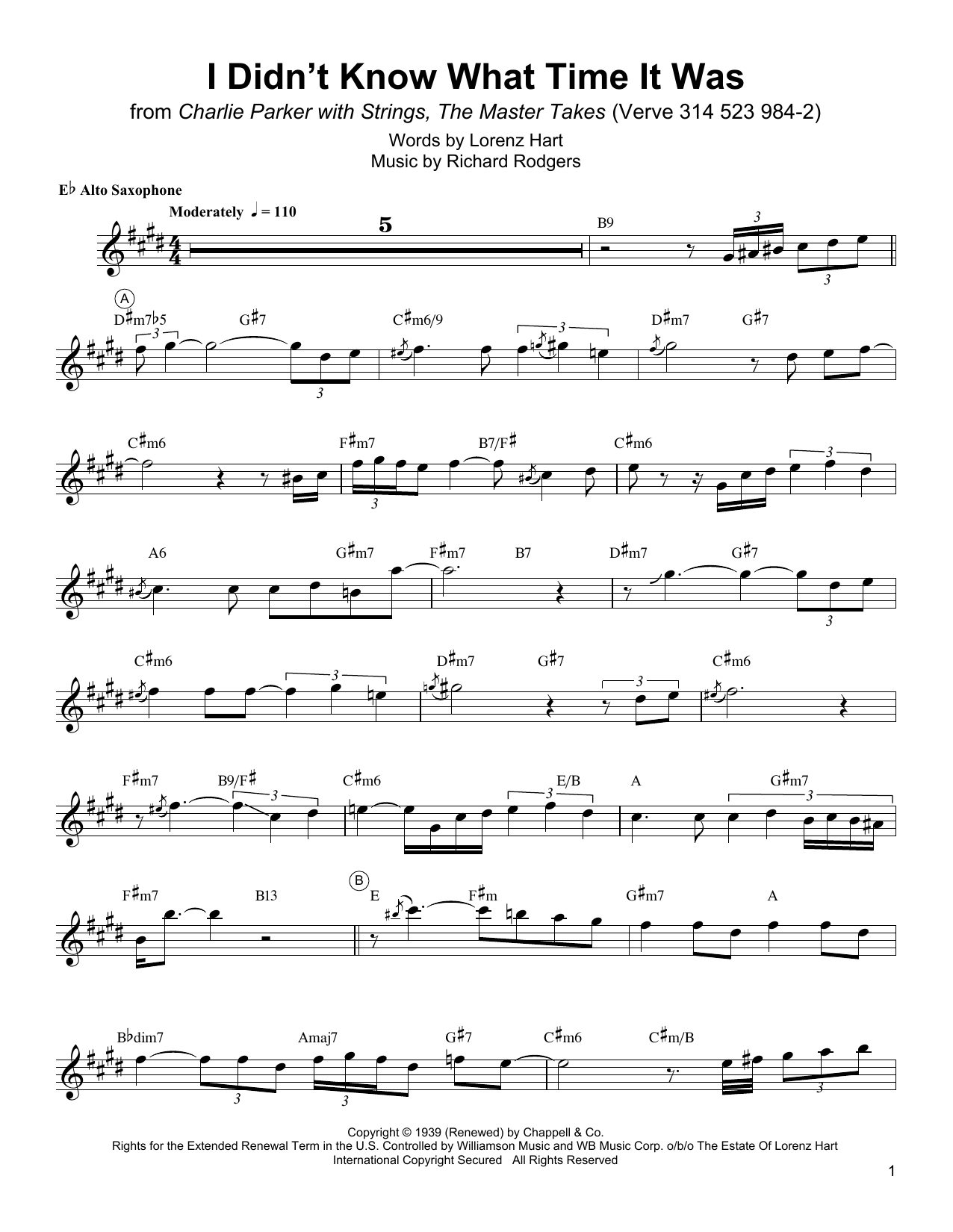 I Didn't Know What Time It Was Sheet Music
