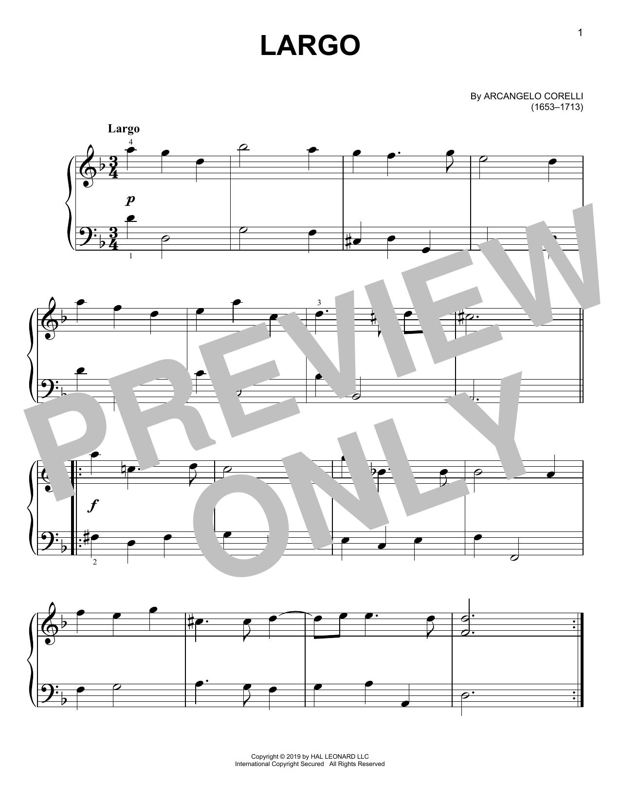 Largo (Easy Piano)