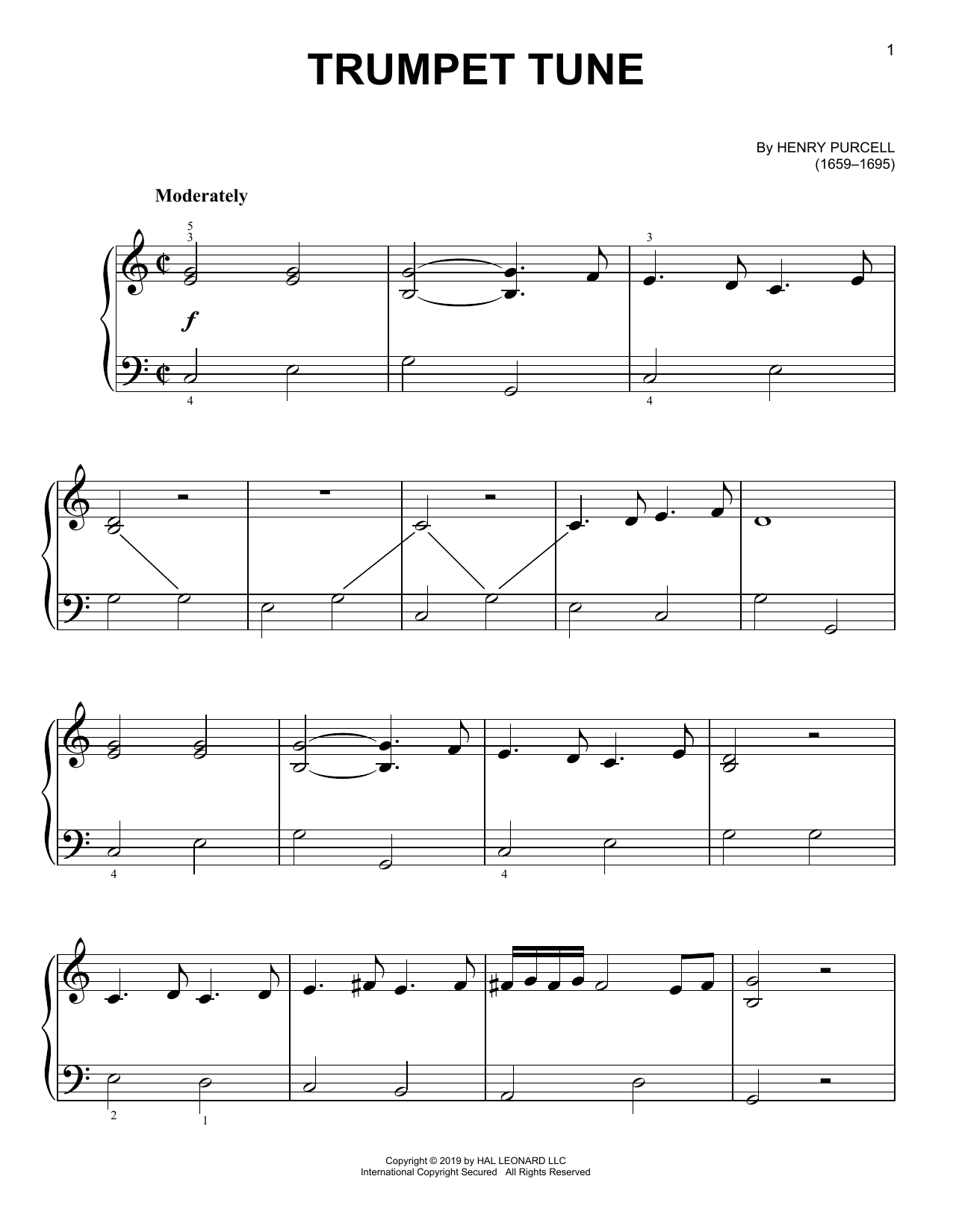 Trumpet Tune (Easy Piano)