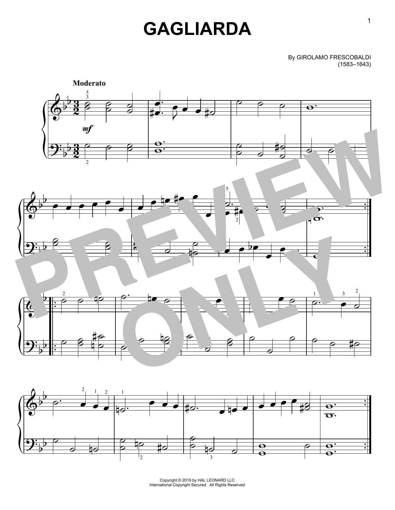 Gagliarda (Easy Piano)