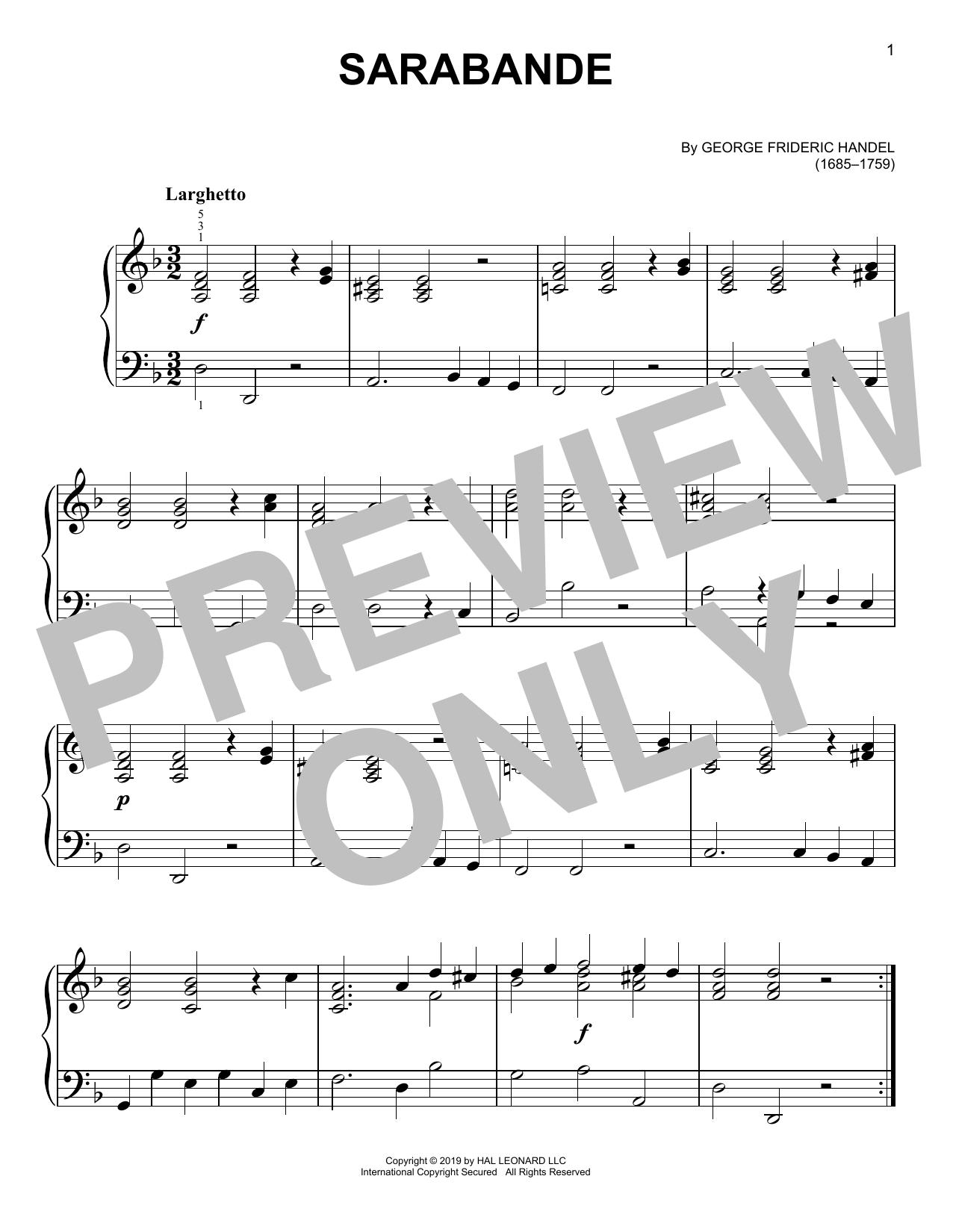 Sarabande (Easy Piano)