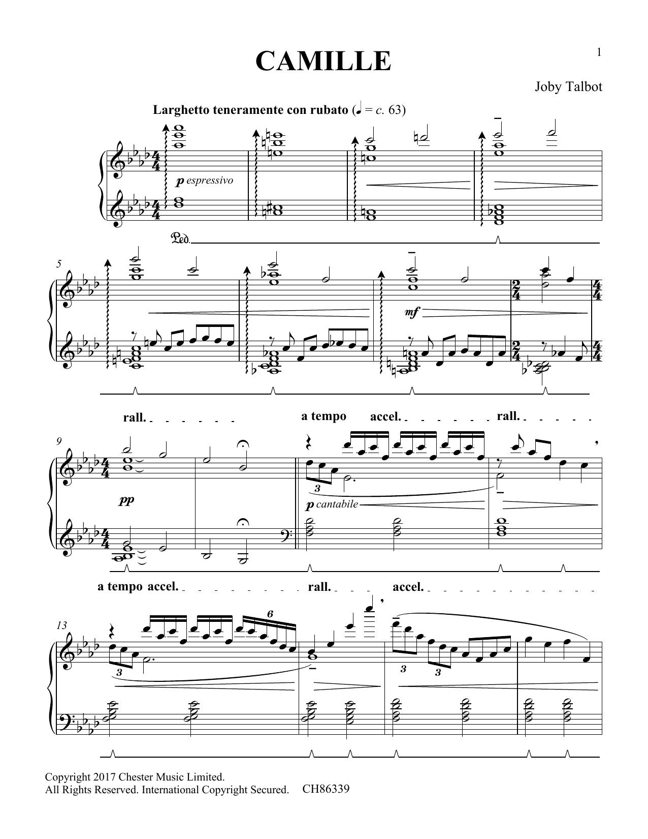 Camille (Piano Solo)